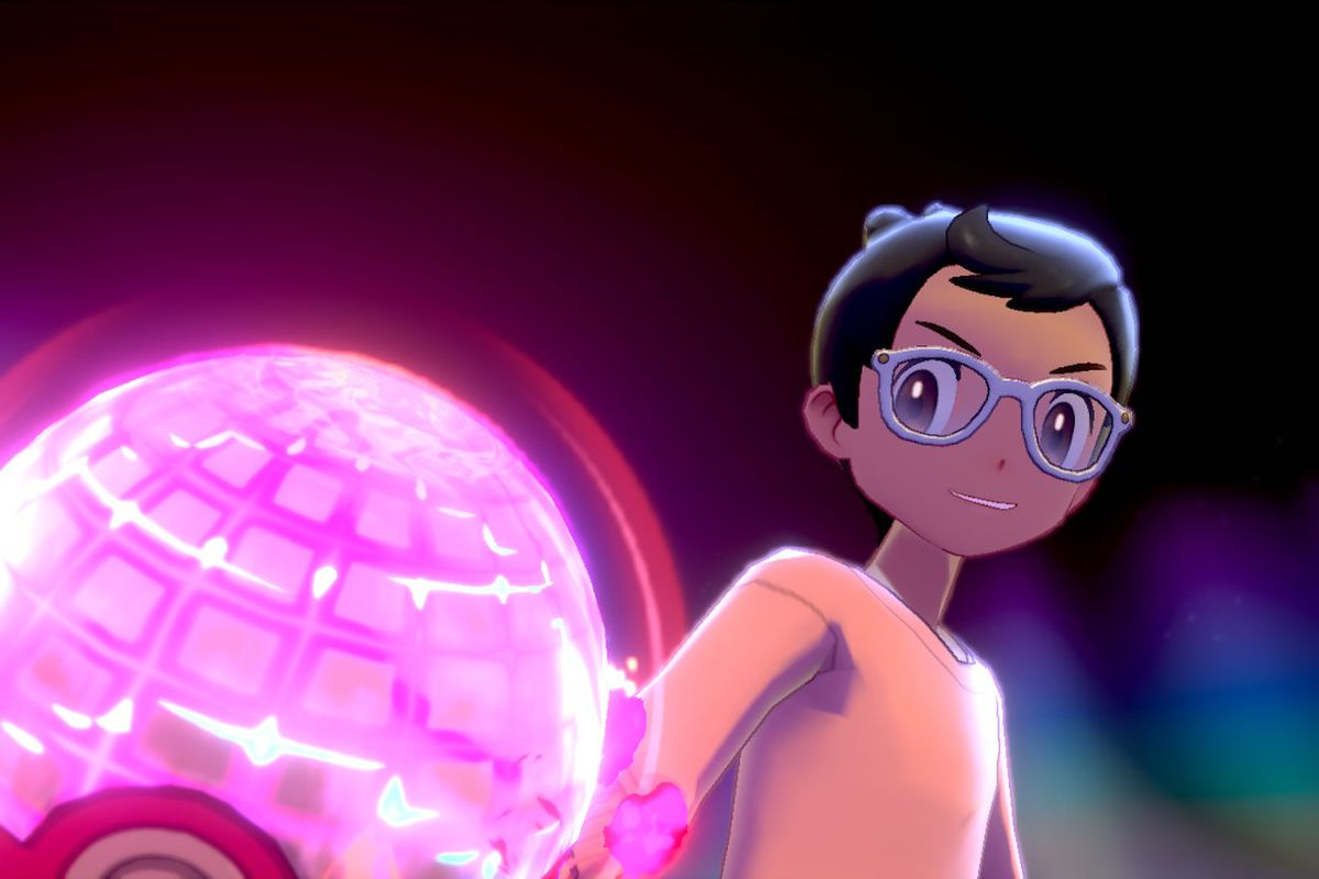 A trainer readies their Dynamax ball in Pokémon Sword and Shield