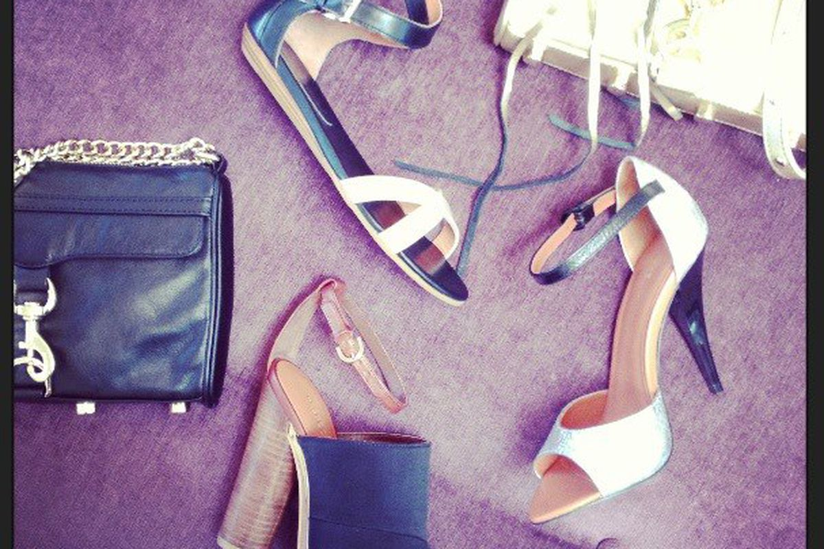 """Rebecca Minkoff shoes at <a href=""""https://www.facebook.com/photo.php?fbid=10151330765436906&amp;set=a.185470931905.134714.23247446905&amp;type=1&amp;theater"""">Moxie</a>"""