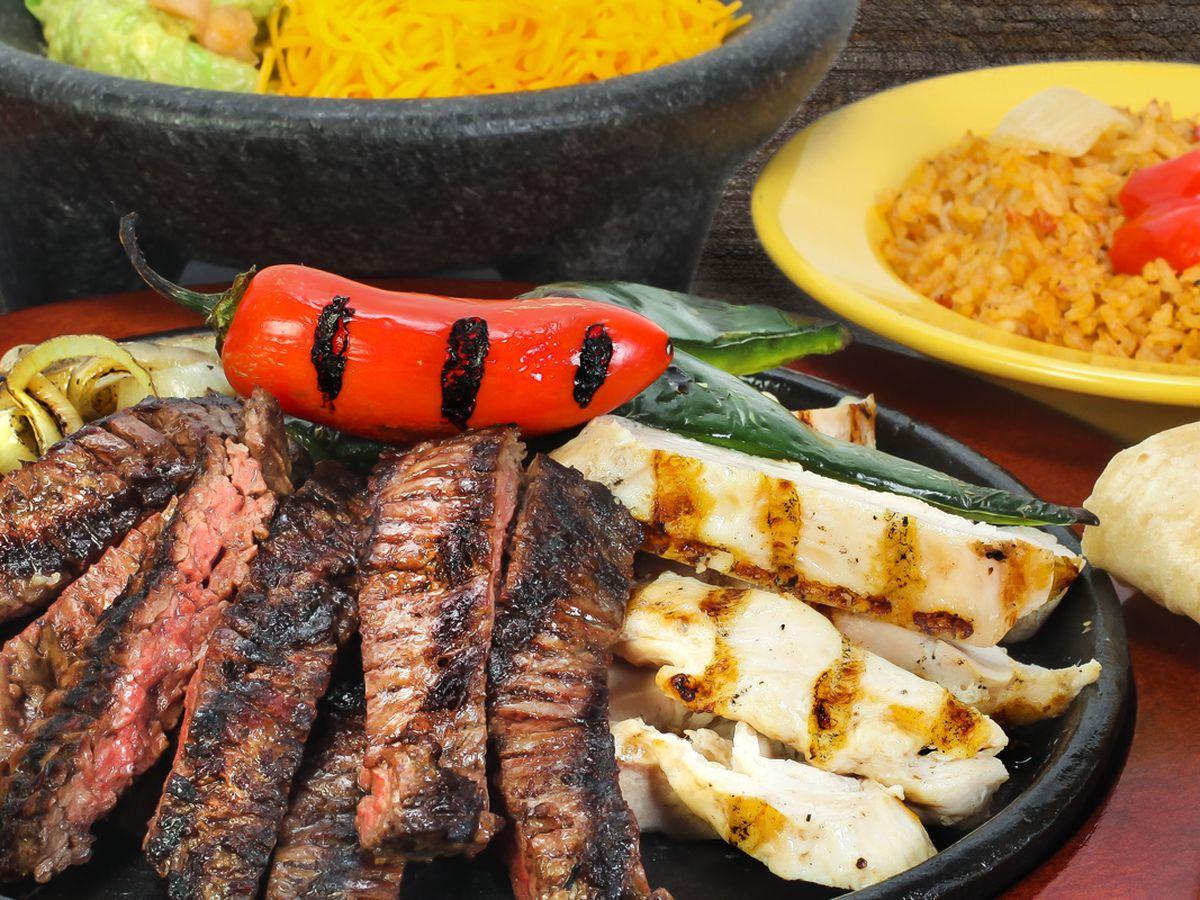 chicken steak and pepper fajitas at Lupe Tortilla