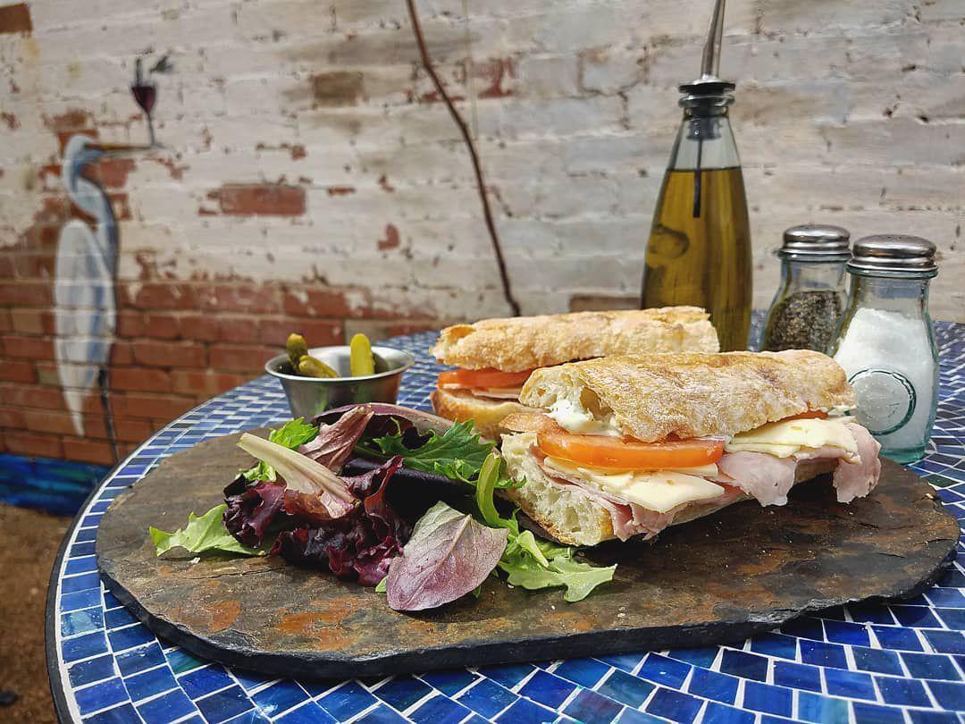 The Parisian sandwich at Blue Dahlia