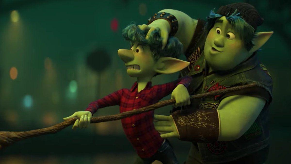 Two characters in Pixar's Onward.