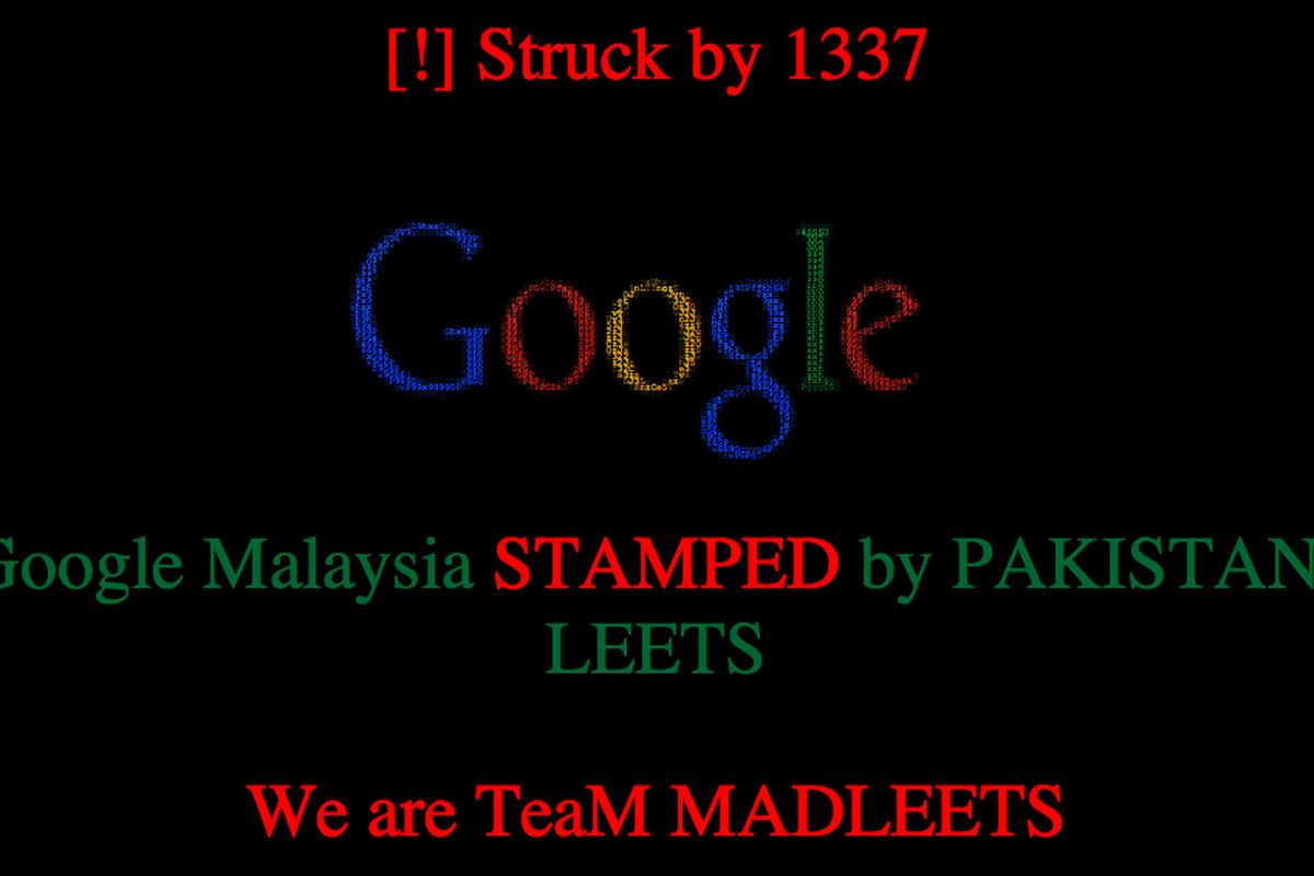 google malaysia hack