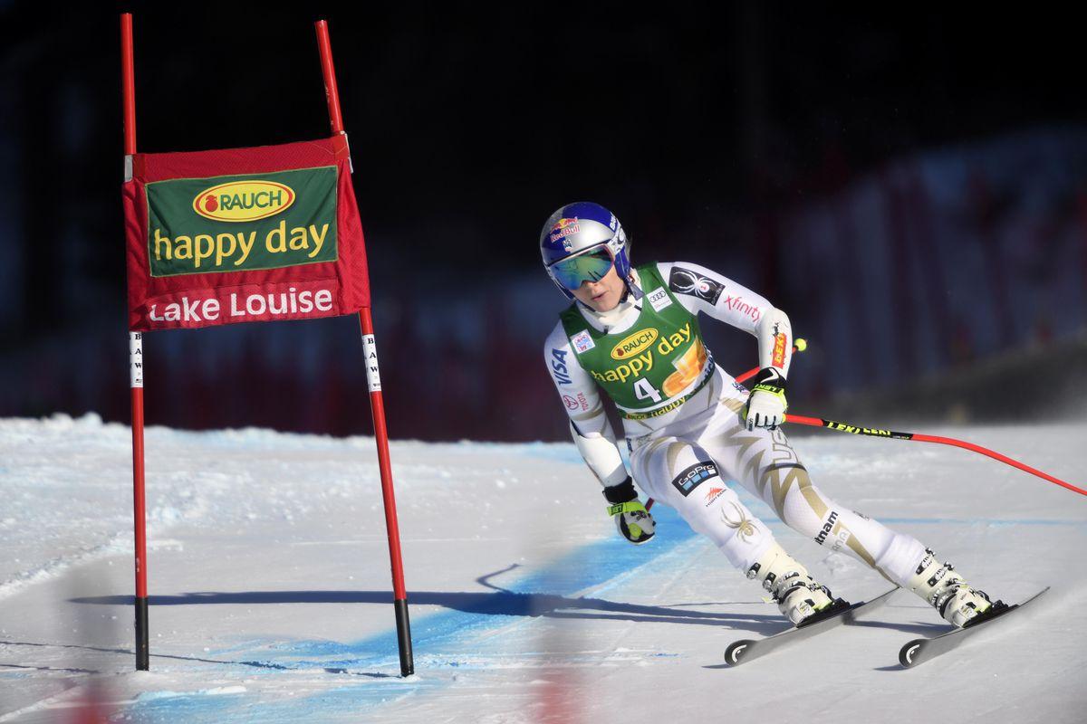 Skier Lindsey Vonn on the slopes