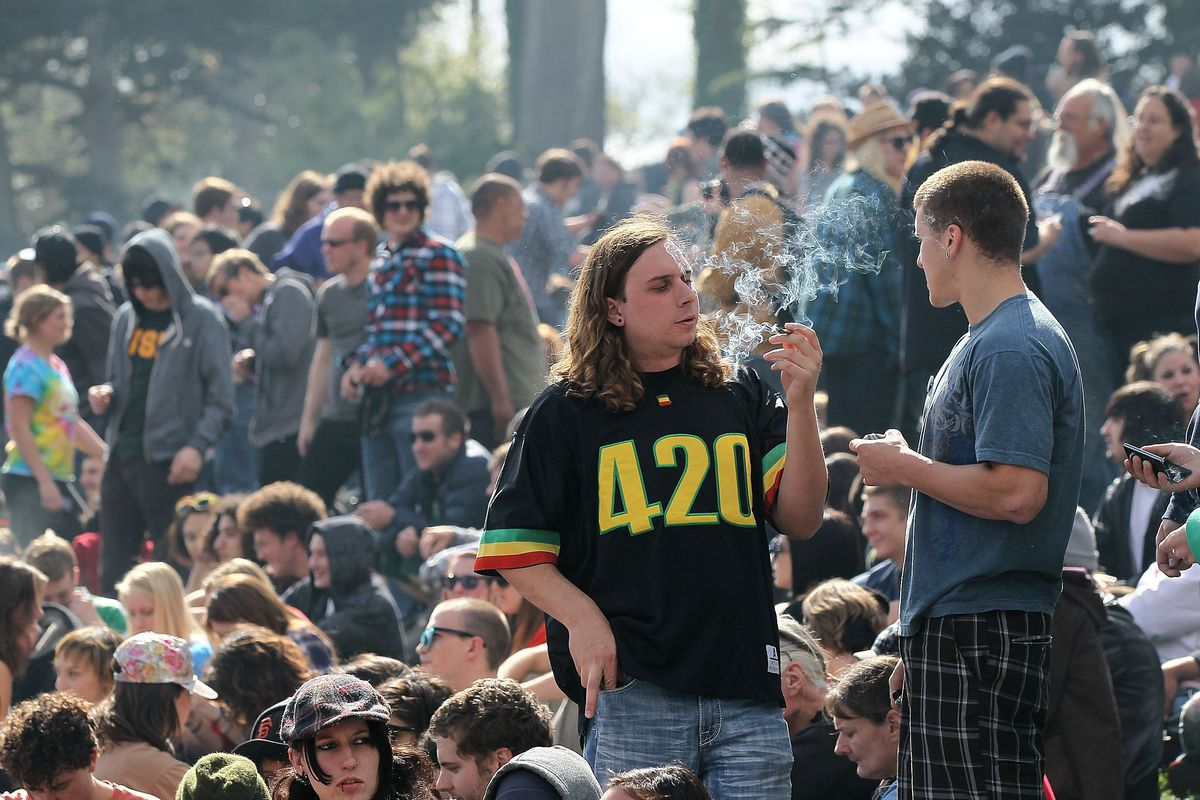 Marijuana enthusiasts gather on 4/20 to smoke cannabis.