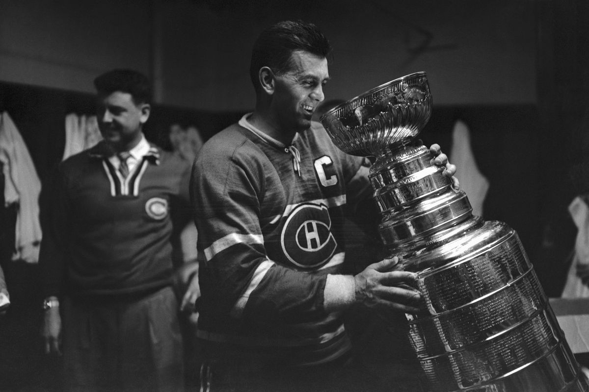 Maurice Richard Holding Stanley Cup