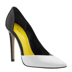 """<b>Nine West</b> Goulding 3 in black/white, <a href=""""http://piperlime.gap.com/browse/product.do?cid=84402&vid=1&pid=632431002"""">$89</a> at Piperlime"""