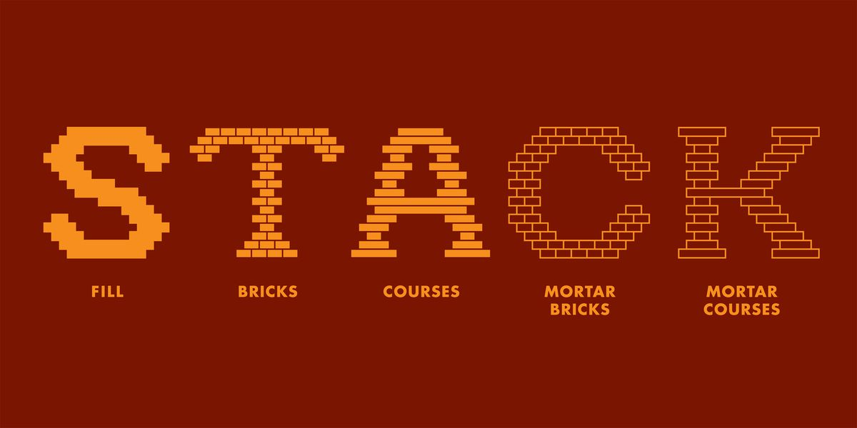 Illustration of five font families