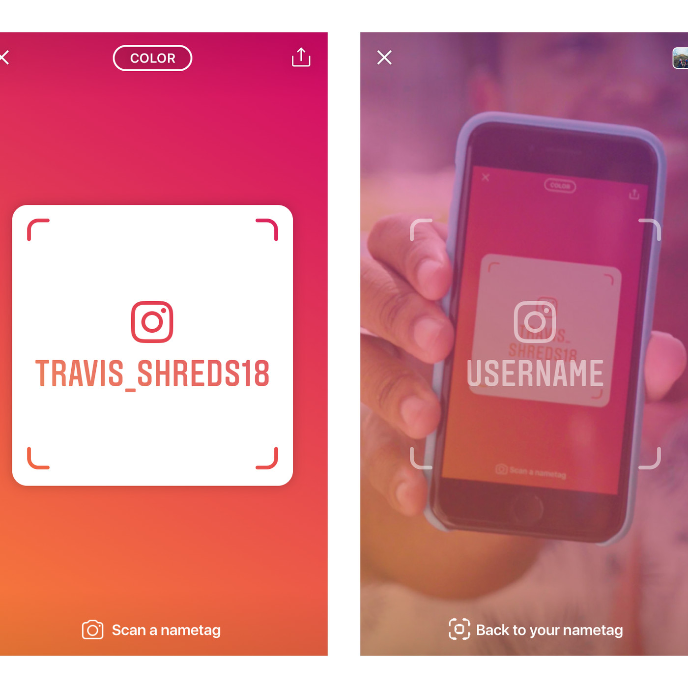Instagram's Nametag feature makes it easier to follow people