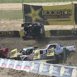 Racers in the Pro Lite division compete in the Lucas Off-Road races in Tooele on Saturday, June 24, 2017.