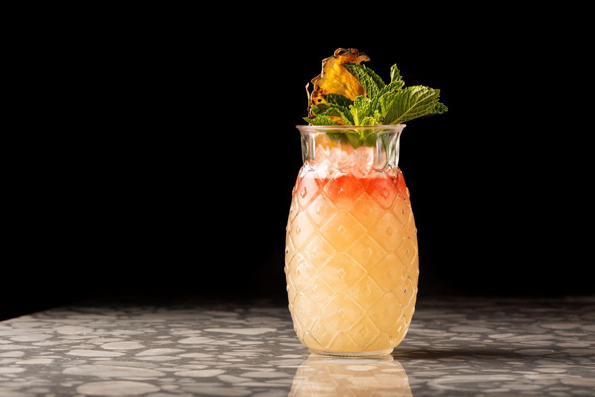 Dante's inferno cocktail at Esperanza in Manhattan Beach