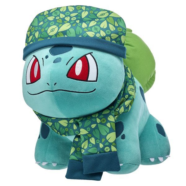 bulbasaur in scarf and hat