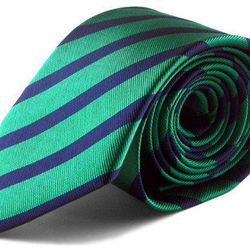 "The K Street tie, <a href=""http://www.bullandmoose.com/products/green-stripe-tie"">$29</a>"