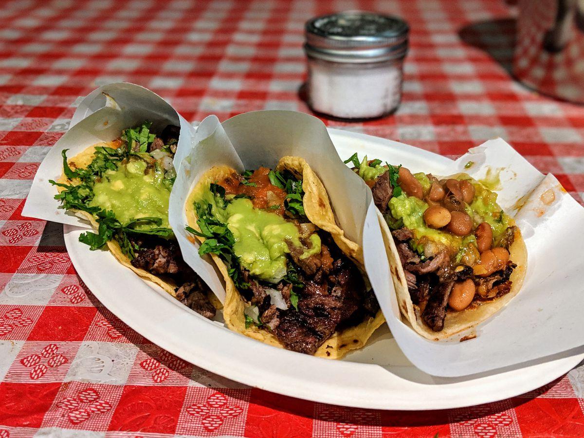 Tacos 1986 tacos avocado on plate