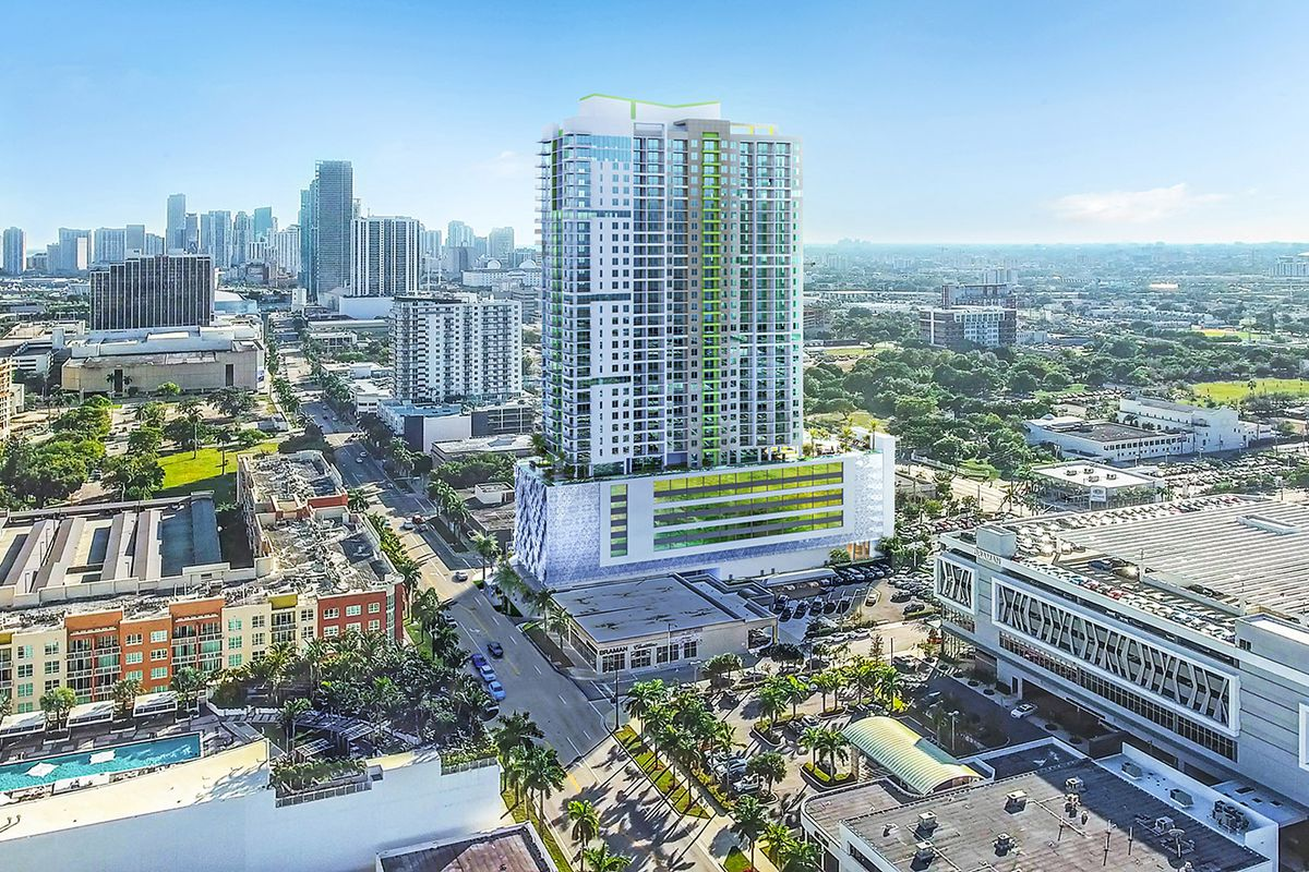 Rendering of 2000 Biscayne in Miami