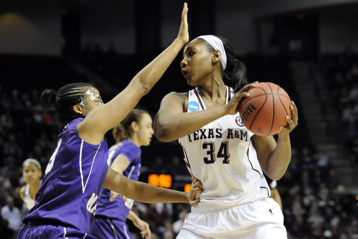 Karla Gilbert had a double-double as the Ags dispatched the JMU Dukes