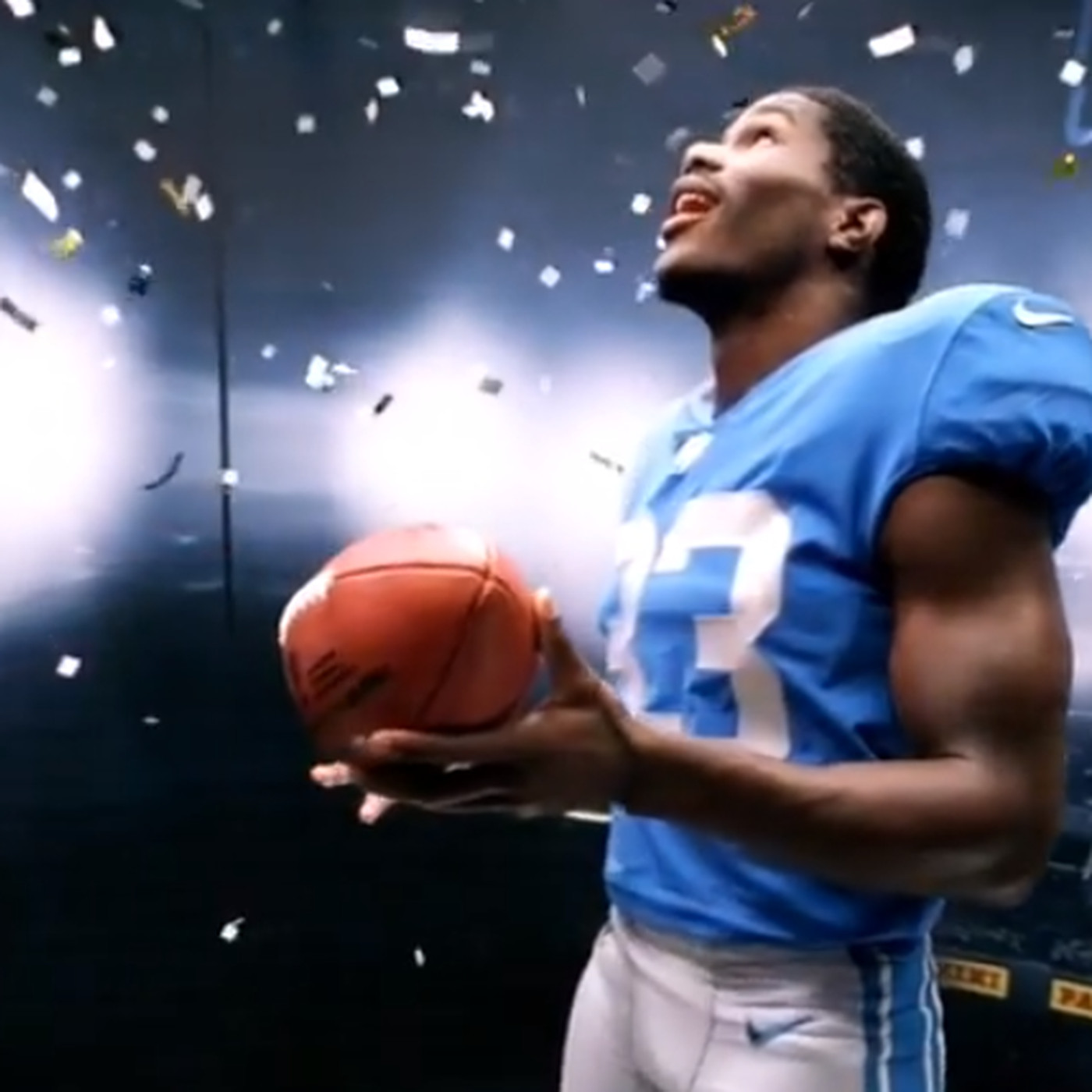 sale retailer d827e d86f0 VIDEO: First look at Lions rookie RB Kerryon Johnson in a ...
