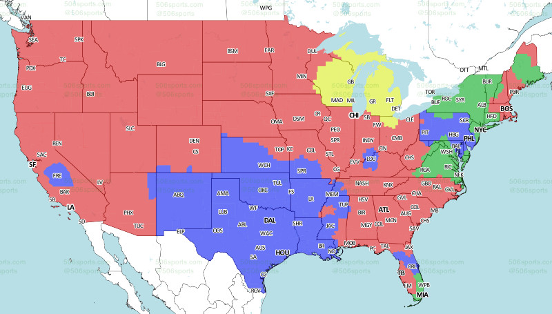 Eagles-Cowboys TV game coverage map - Bleeding Green Nation