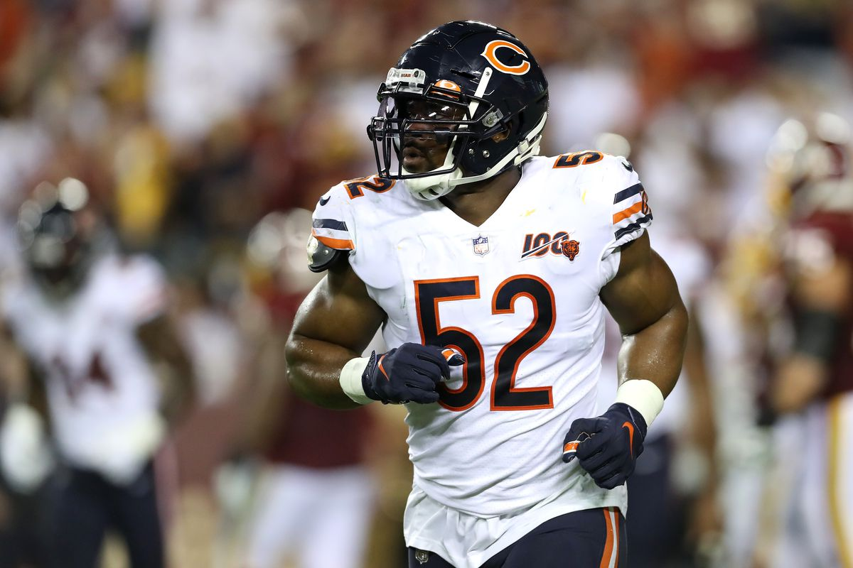Bears outside linebacker Khalil Mack might be the most dominant defensive force in the NFL since Lawrence Taylor.