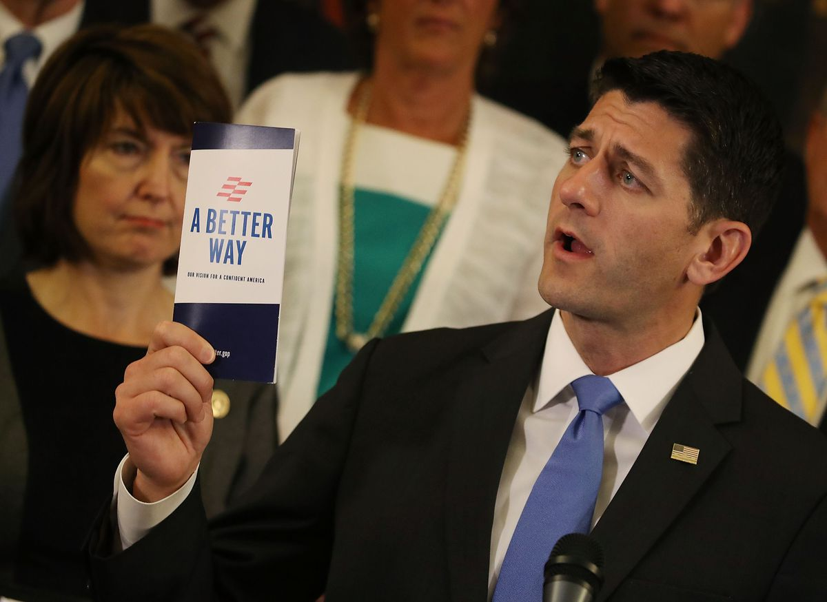 Paul Ryan Holds News Conference To Discuss 'Better Way Agenda'