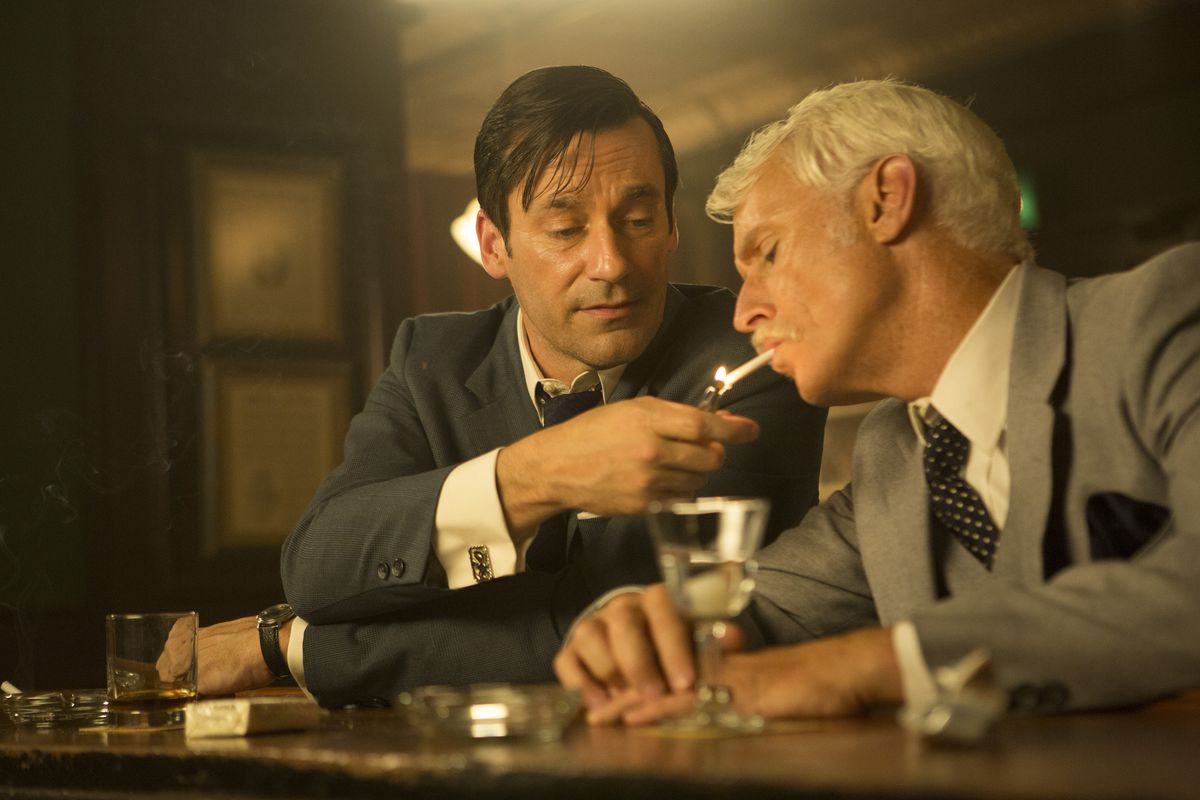 Don Draper and Roger Sterling: two dinosaurs cursed to live out their own extinction.