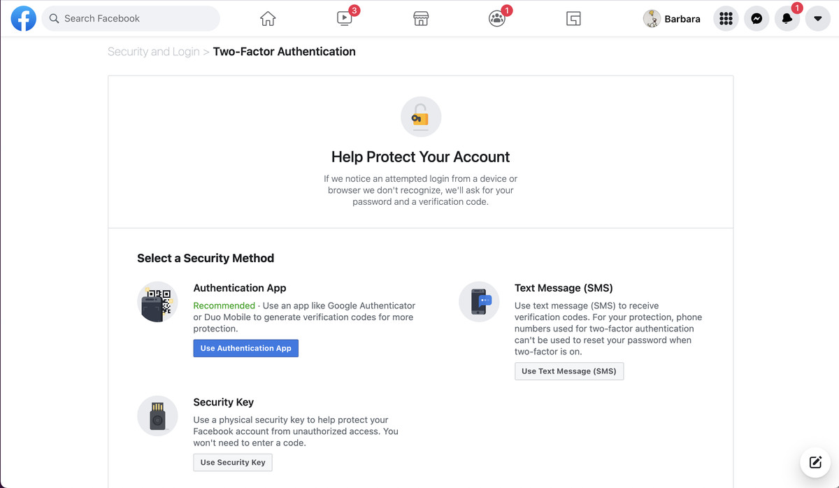 You can use a security key as your main authentication method.