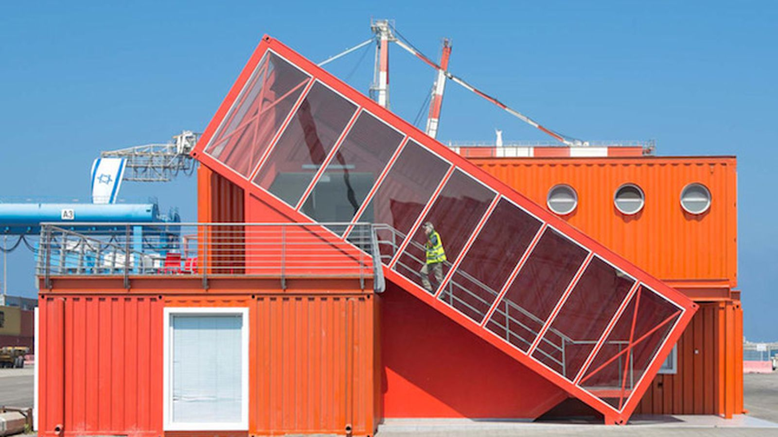 This new shipping container office is handsomely off kilter curbed - Shipping container homes chicago ...