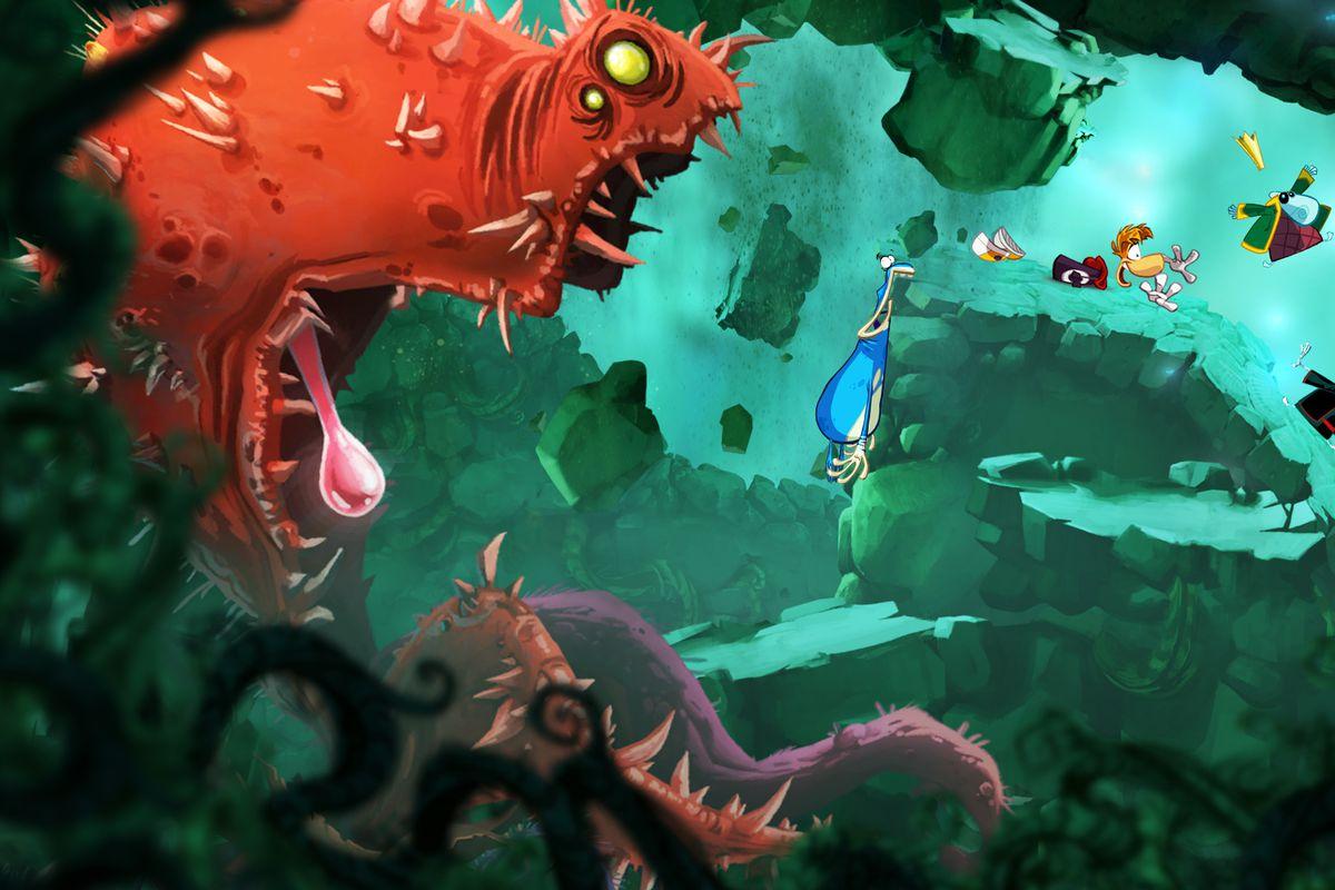 Rayman Origins monster chase