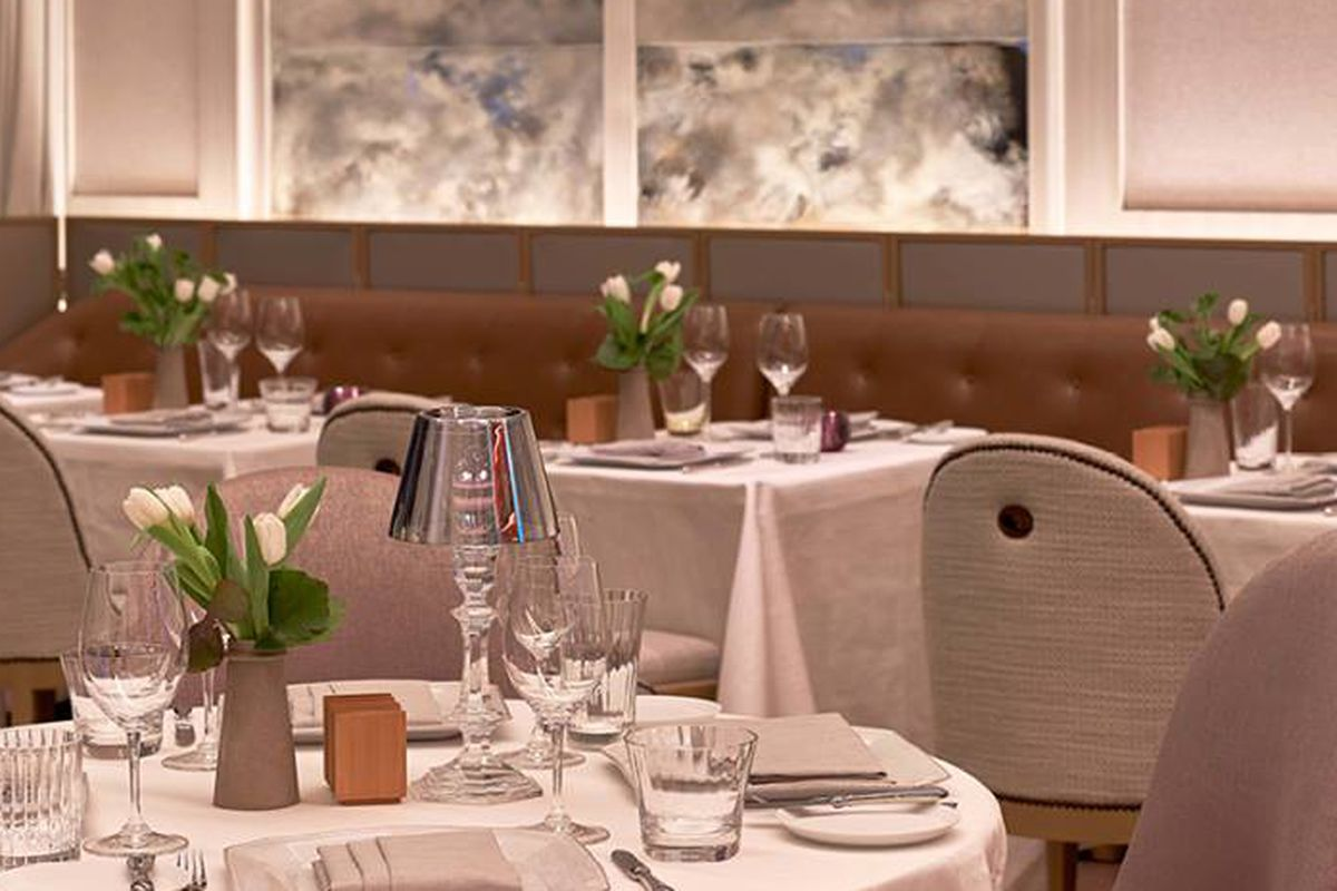 [The dining room at Chevalier]