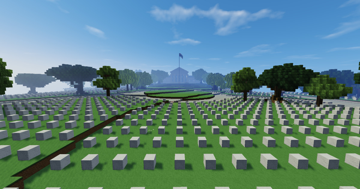Finally, someone is building a model of D C  in Minecraft