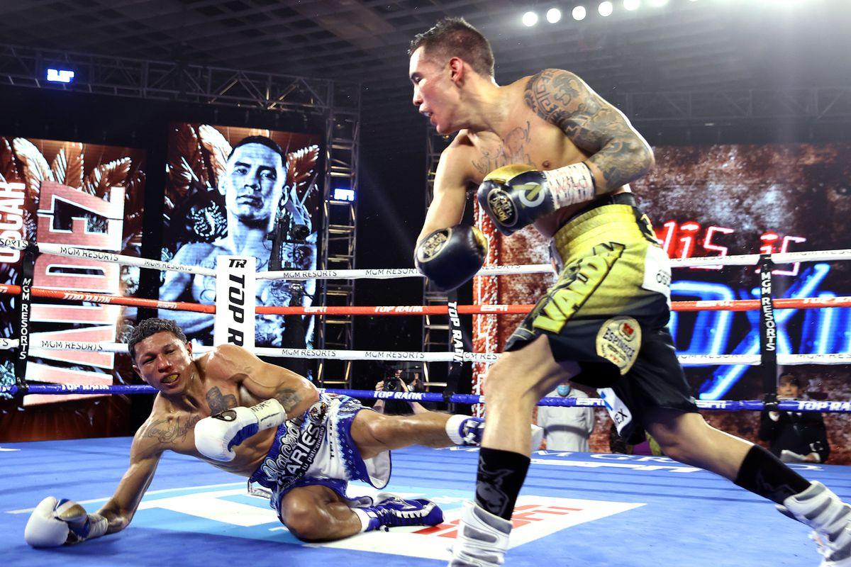 Results and highlights: Oscar Valdez dominates, KO's Miguel Berchelt - Bad  Left Hook