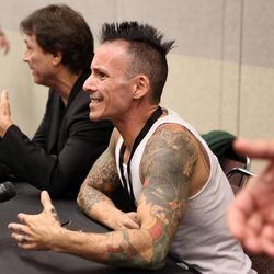 """Noah Hathaway, of """"Battlestar Galactica"""" and """"The Neverending Story,"""" talks to the media at a press conference at Utah's first Comic Con at the Salt Palace Convention Center in Salt Lake City on Thursday, Sept. 5, 2013."""