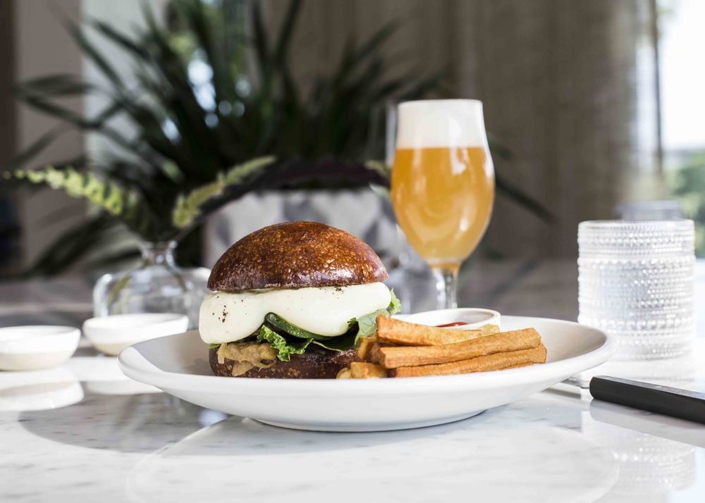 Arlo Grey's burger and fries