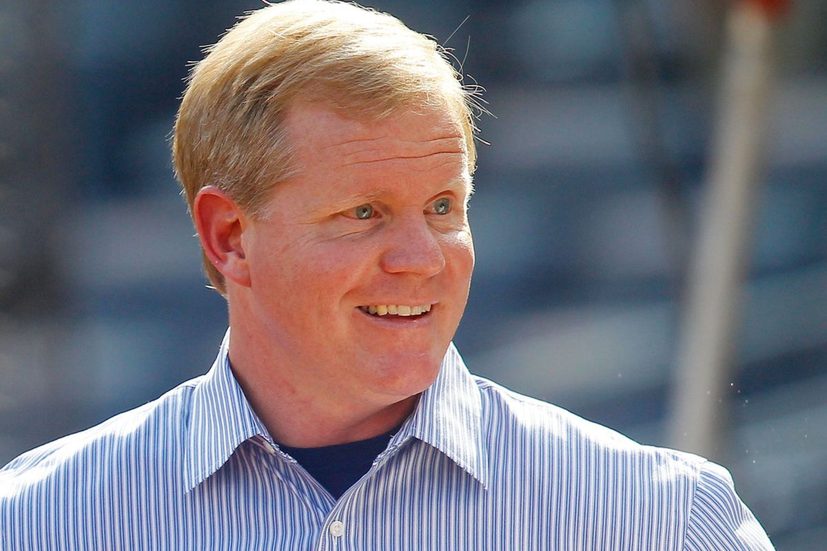 PITTSBURGH - JULY 19:  Pittsburgh Pirates GM Neal Huntington talks to reporters prior to the game against the Cincinnati Reds on July 19, 2011 at PNC Park in Pittsburgh, Pennsylvania.  (Photo by Jared Wickerham/Getty Images)