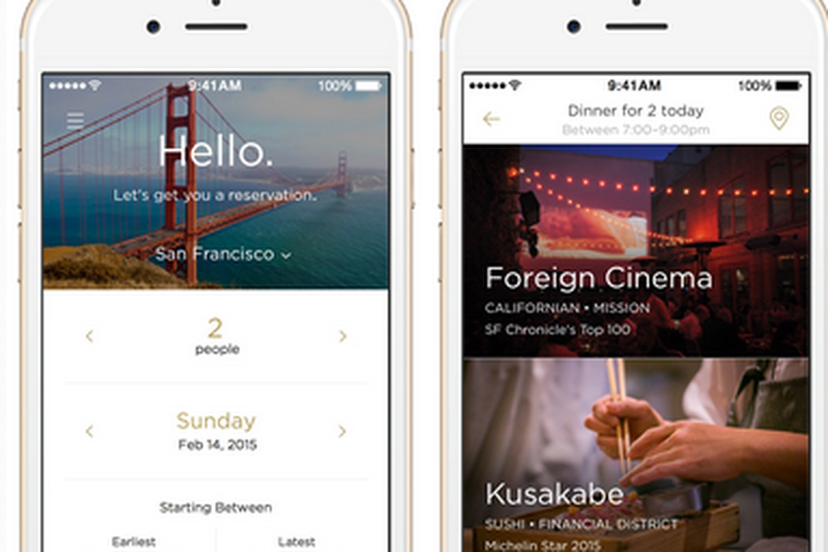 New App Reserve Is Your Concierge To Sf S Hot Restaurants