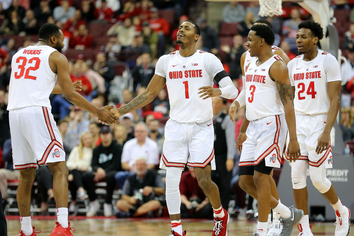 ohio state mens basketball defeats over high point 82 64 land