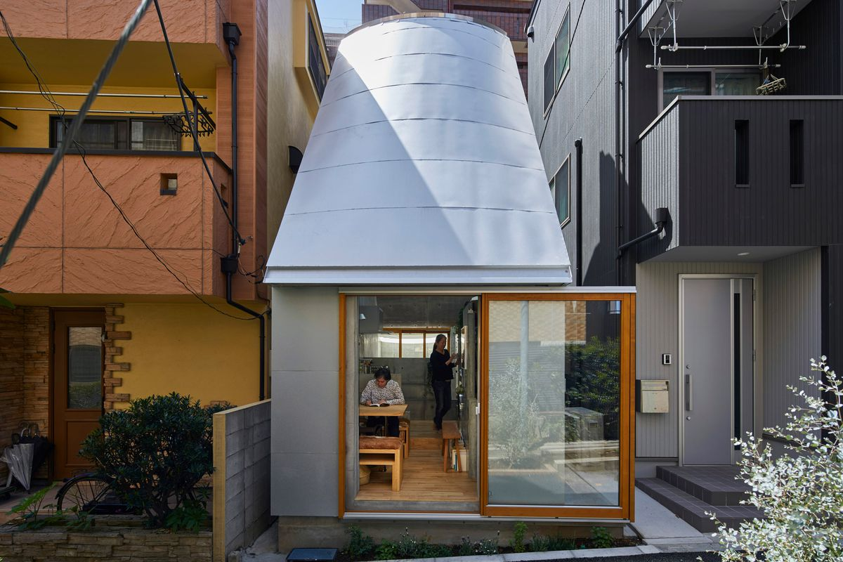 Tiny house in Japan fits everything in - Curbed on narrow room design, narrow modern house design, narrow courtyard design,