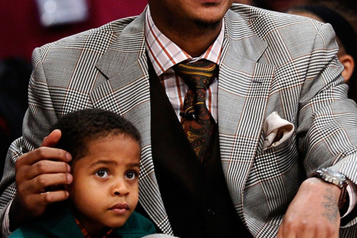 Carmelo Anthony holds yet another helpless child hostage.