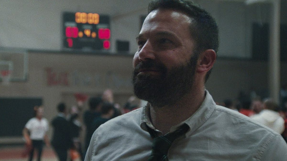 ben affleck on a basketball court in the way back