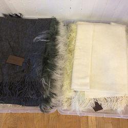 Nicholas K fur scarves, $110