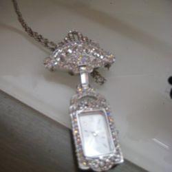 Badgley Mischka Watch-Necklace