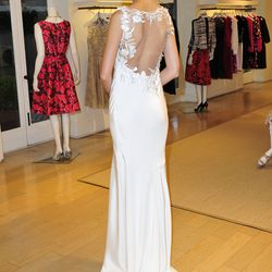 Beautiful open backs were a theme in the collection.