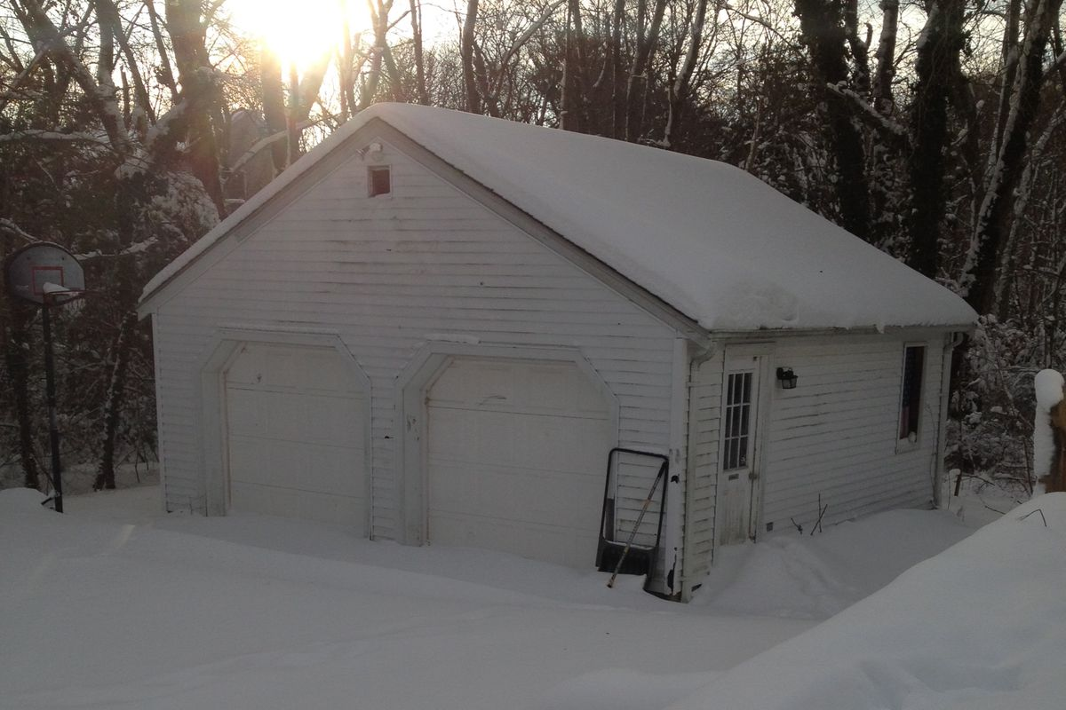 Alex Johnson plans his hypothetical Bears Brewing Co. for this garage.