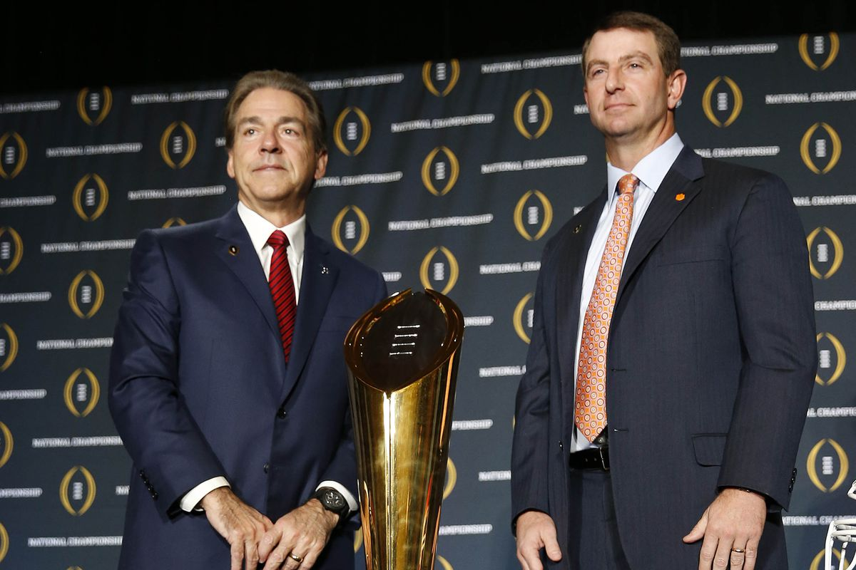 Alabama Clemson Is The First 1 Vs 2 Title Game To Ever Get A