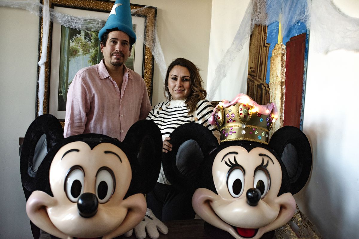 José and Nadia without their masks at their home in Union City, New Jersey.