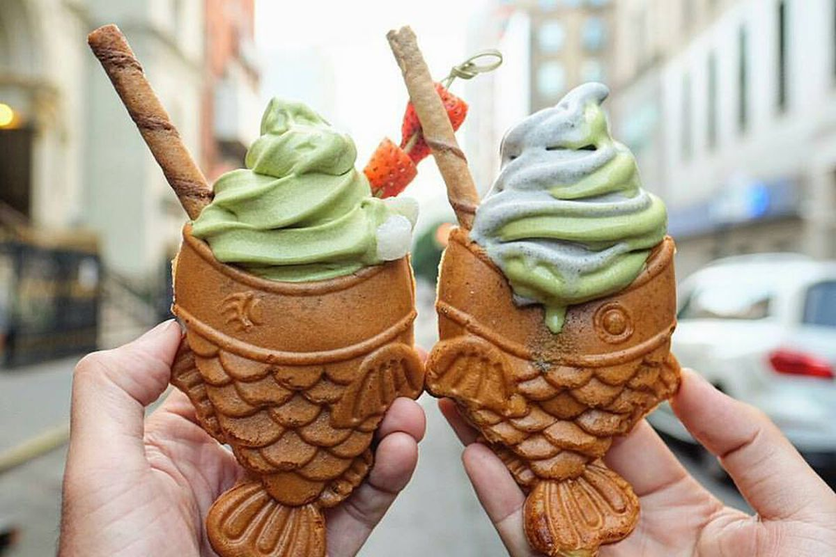 soft serve in fish shaped cones is the newest nyc sweets