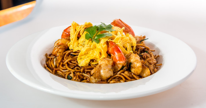 Noodles at Le Chamarel, one of the best value restaurants in north London