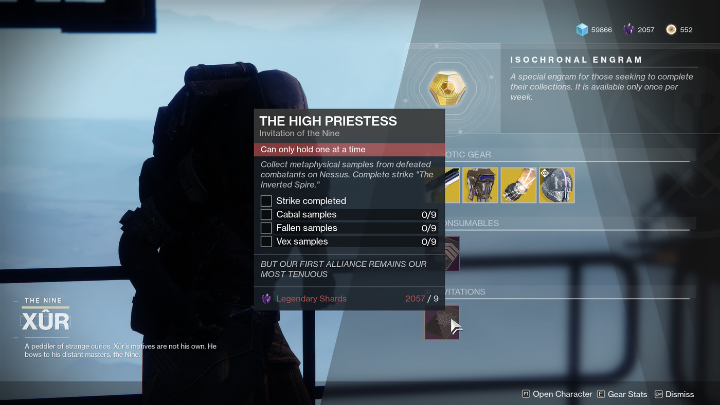 Destiny 2 Xur location and items, March 29 - April 1 - Polygon