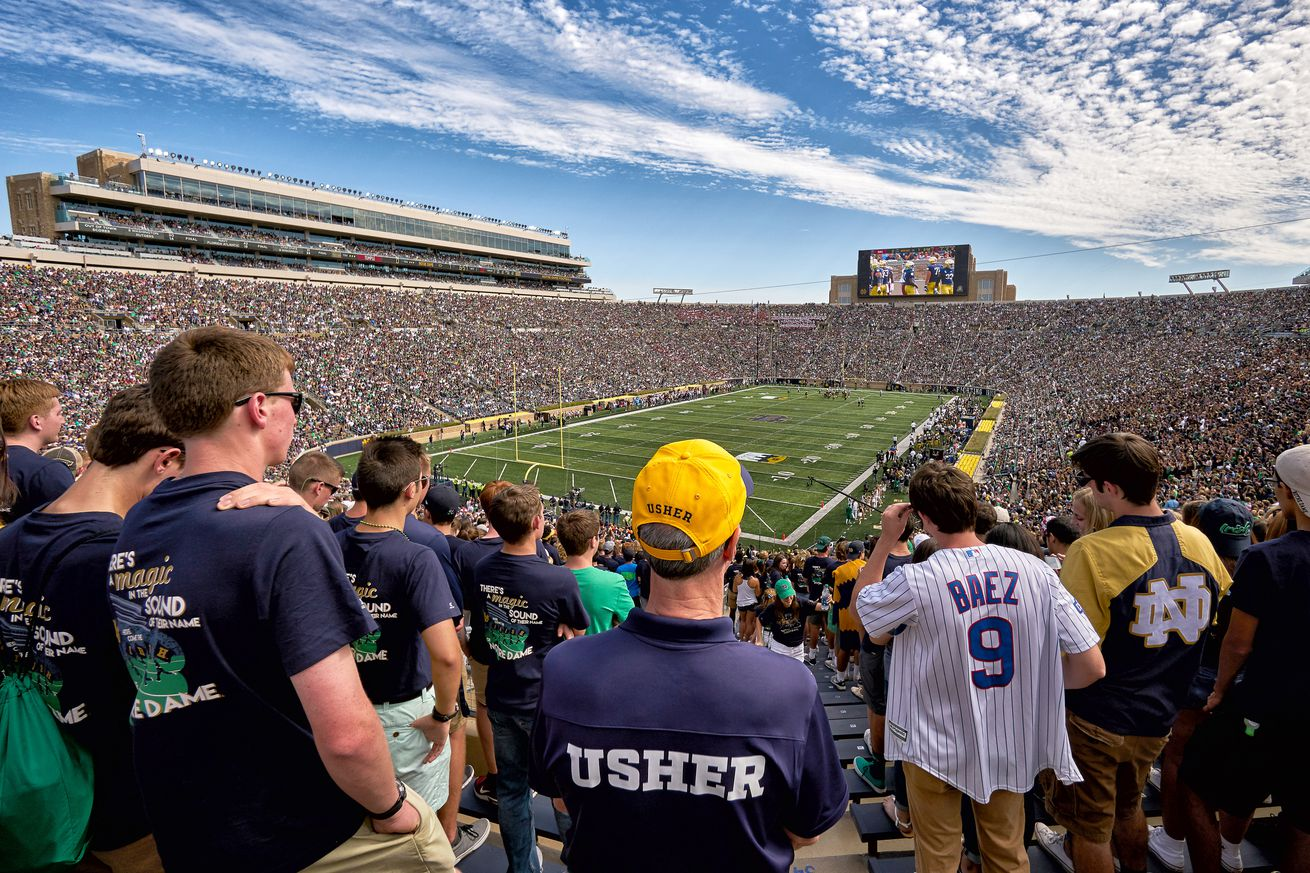Here's A Fan Led Solution To Improving Notre Dame's Home Field Advantage