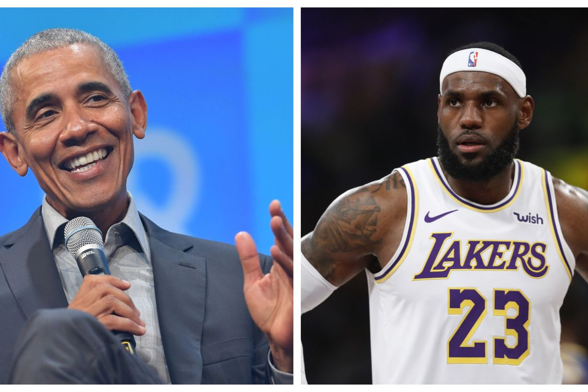 Barack Obama and LeBron James