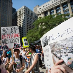 The Families Belong Together march started in Daley Plaza.   James Foster/For the Sun-Times